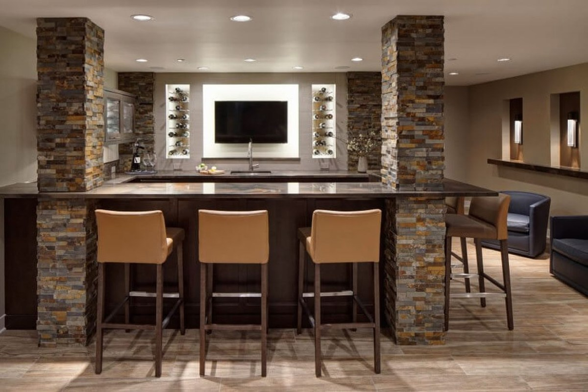 Contemporary home bar