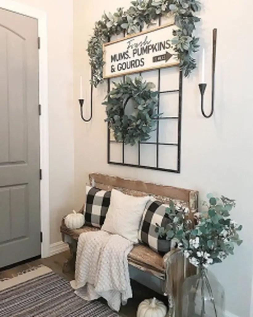 Create a cozy entryway