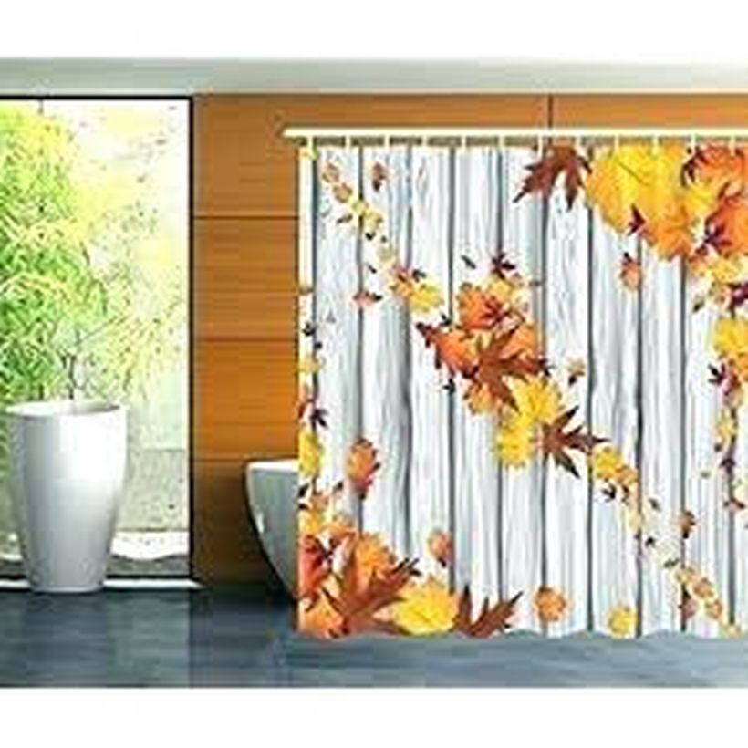 Curtain to save your bathroom space.