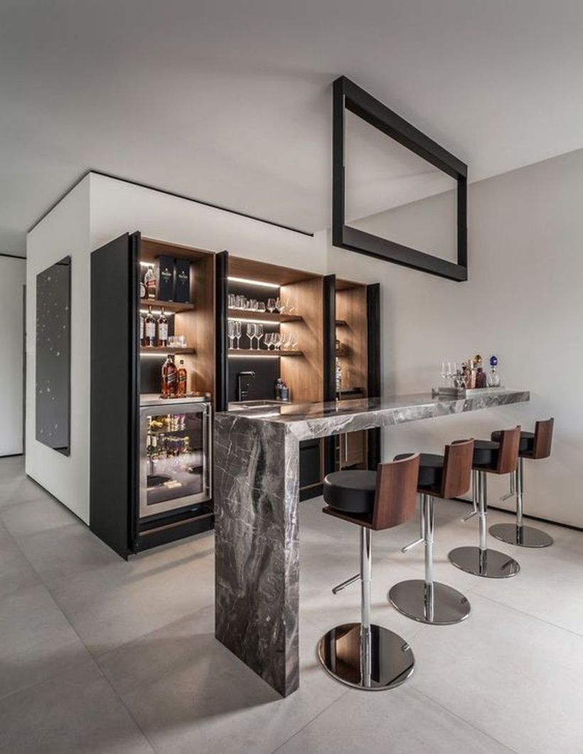 Glorious contemporary home bar