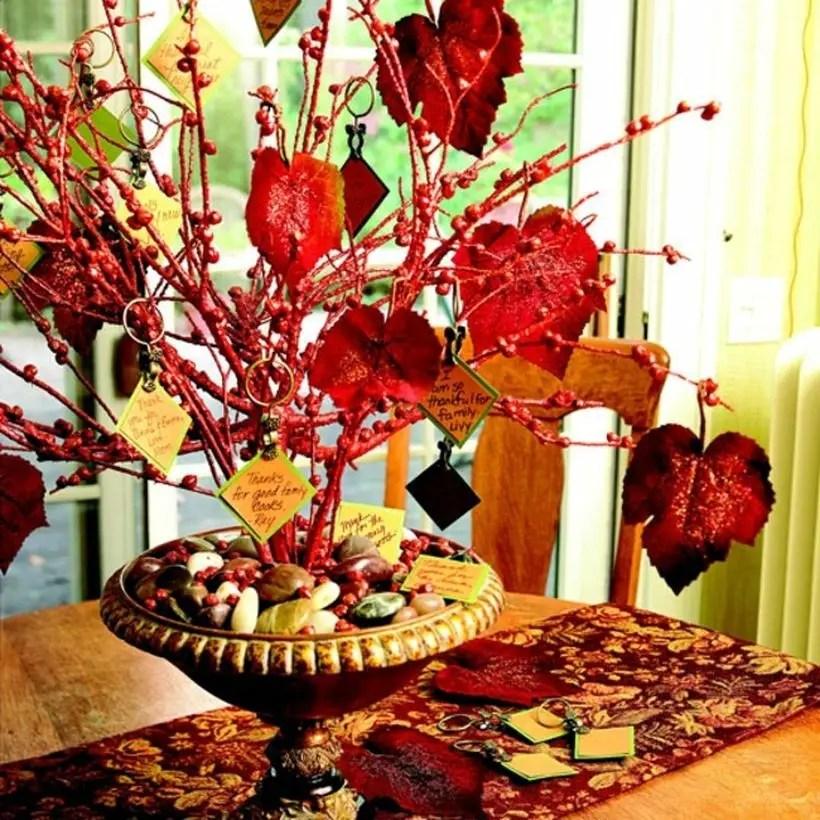 Mini pumpkins on the table