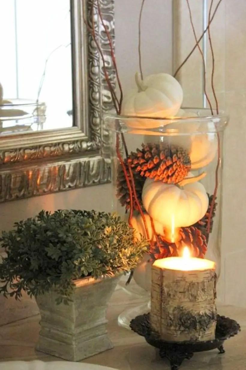 Primitive harvest bok lantern