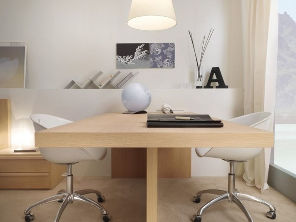 Smart desk design for office home with dual user desk to perfect your simple office home