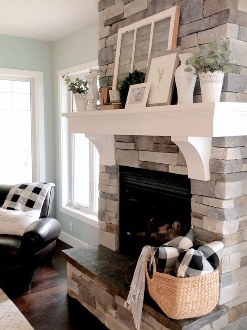 White wooden rack fireplace decoration
