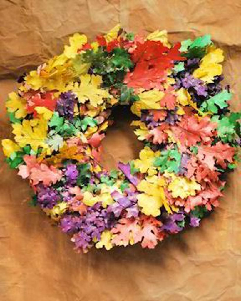 Autumn leaves craft wreaths