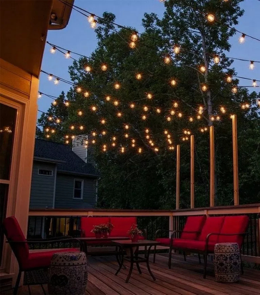Beautiful lighting for porch