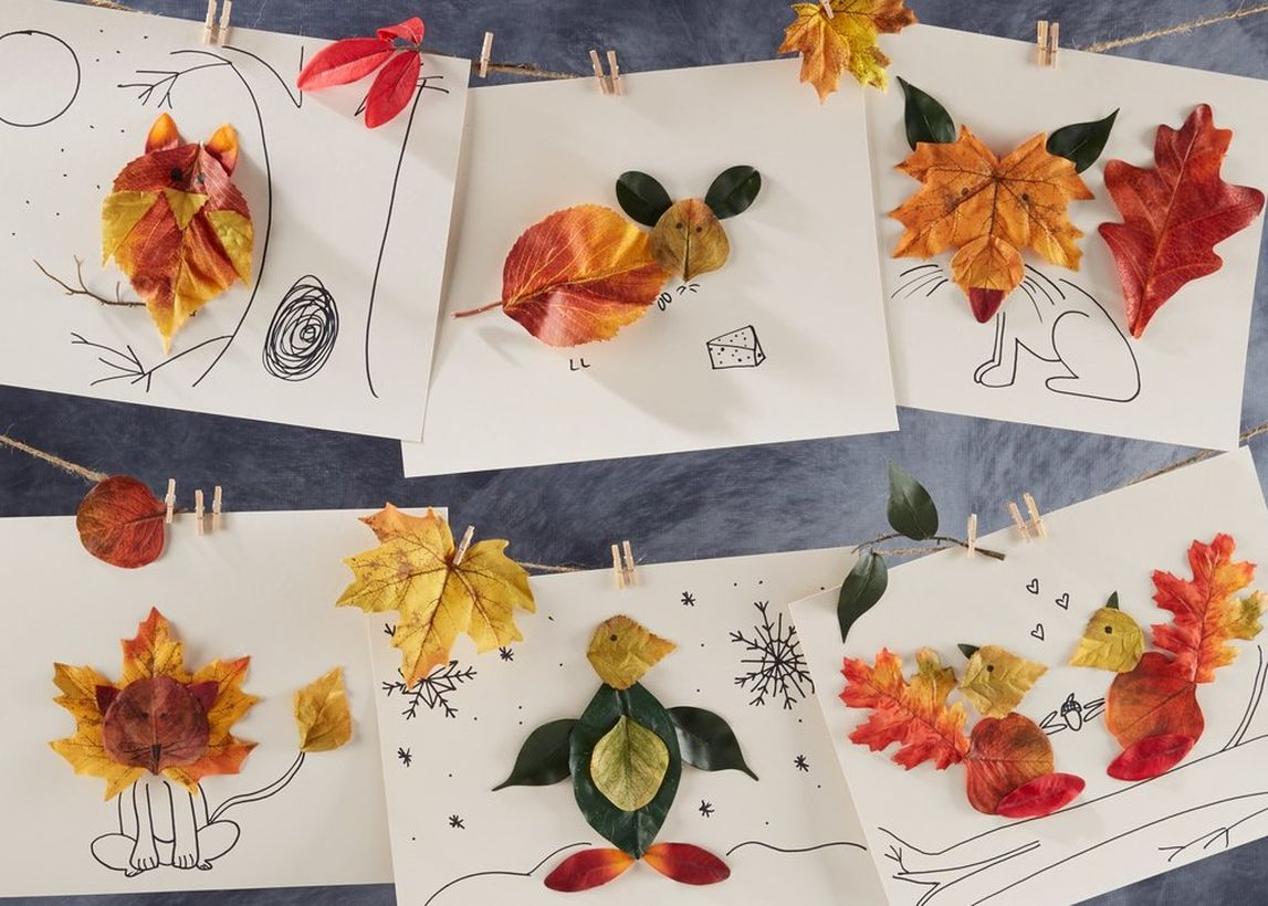 Kristine cooke stylist autumn leaves and critters