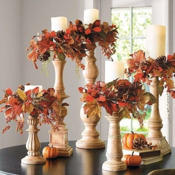 Pumpkins decoration candle holder
