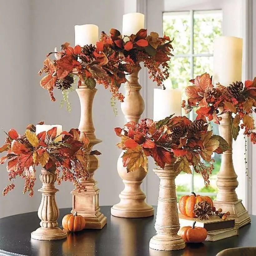 Pumpkins decoration candle holder