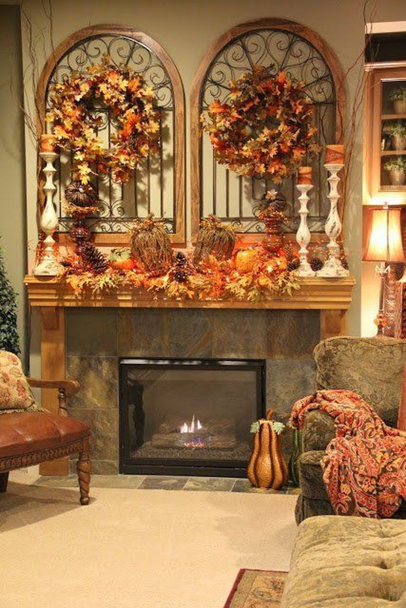 Pumpkins to decorate for fire pit to create rustic nuance