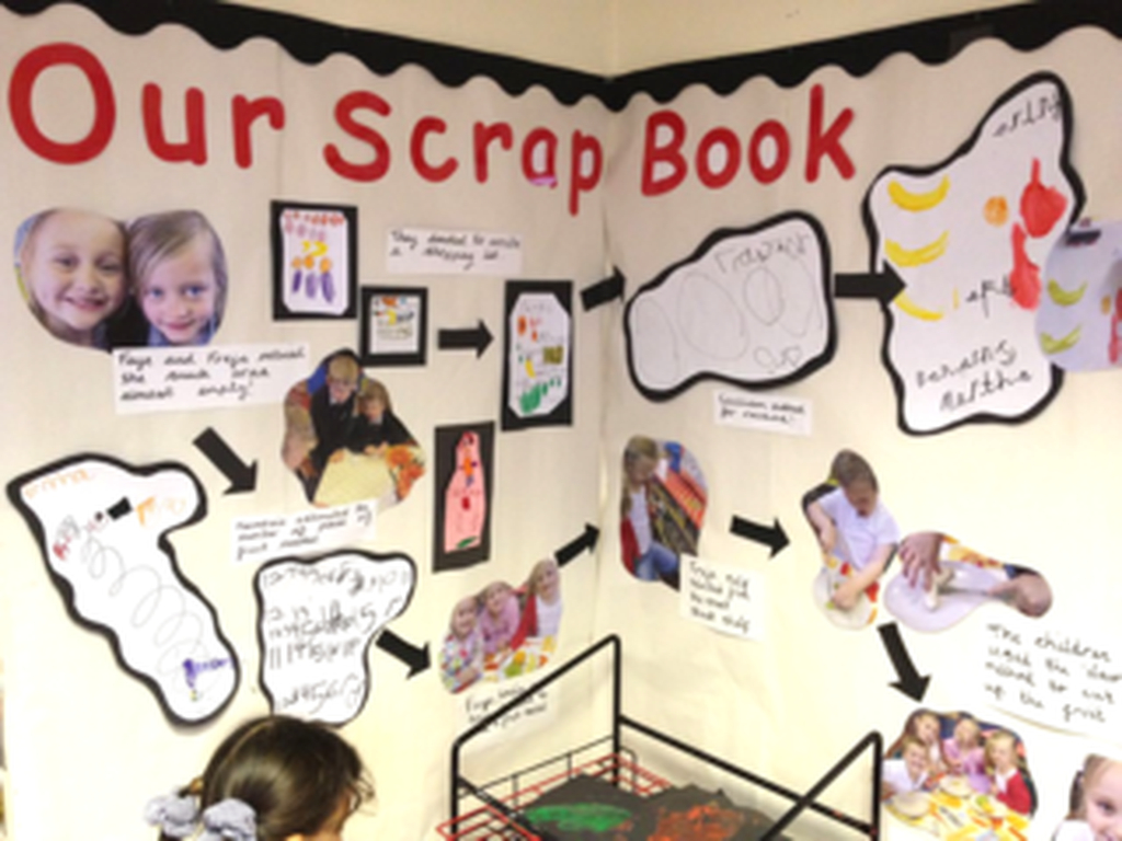 Scrapbook to complete classroom board display