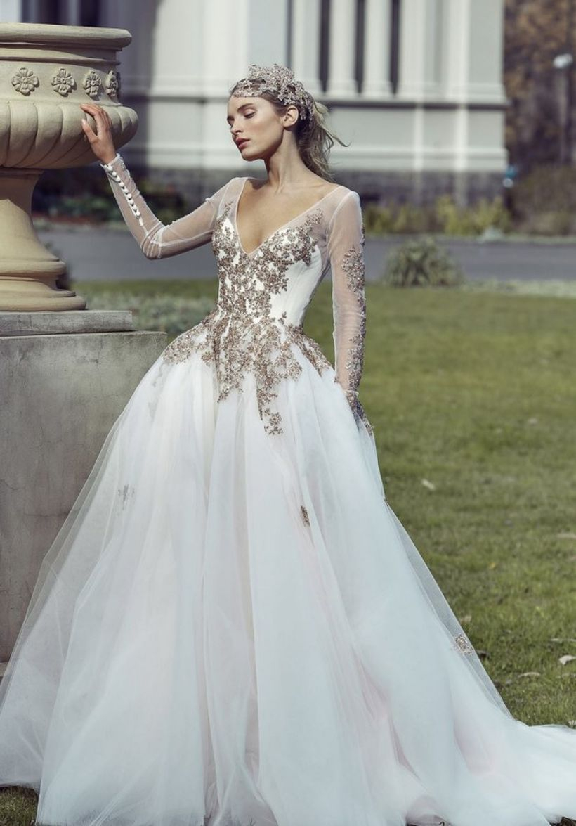 A line dress and lace dress for fancy wedding to look beautify