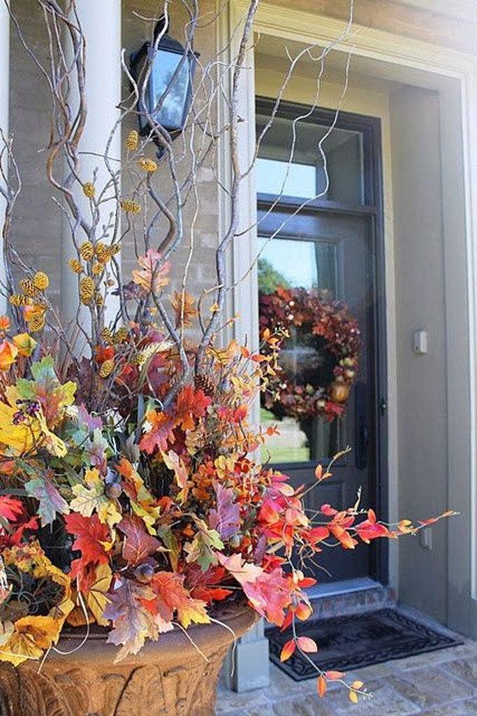 An amazing plants decoration with plants and branch for fall