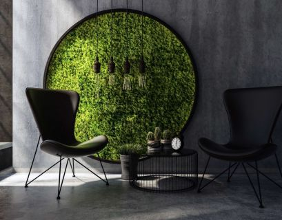 Best succulent with small round pot on the round black table to make beauty your living room
