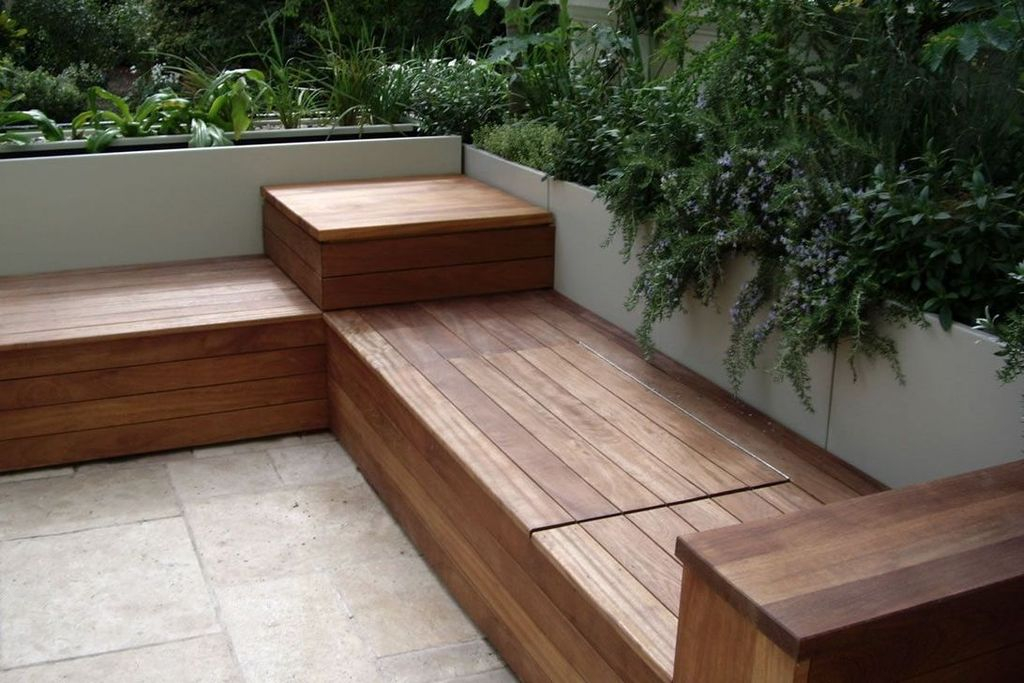 Big wooden bench to beautify your outdoor