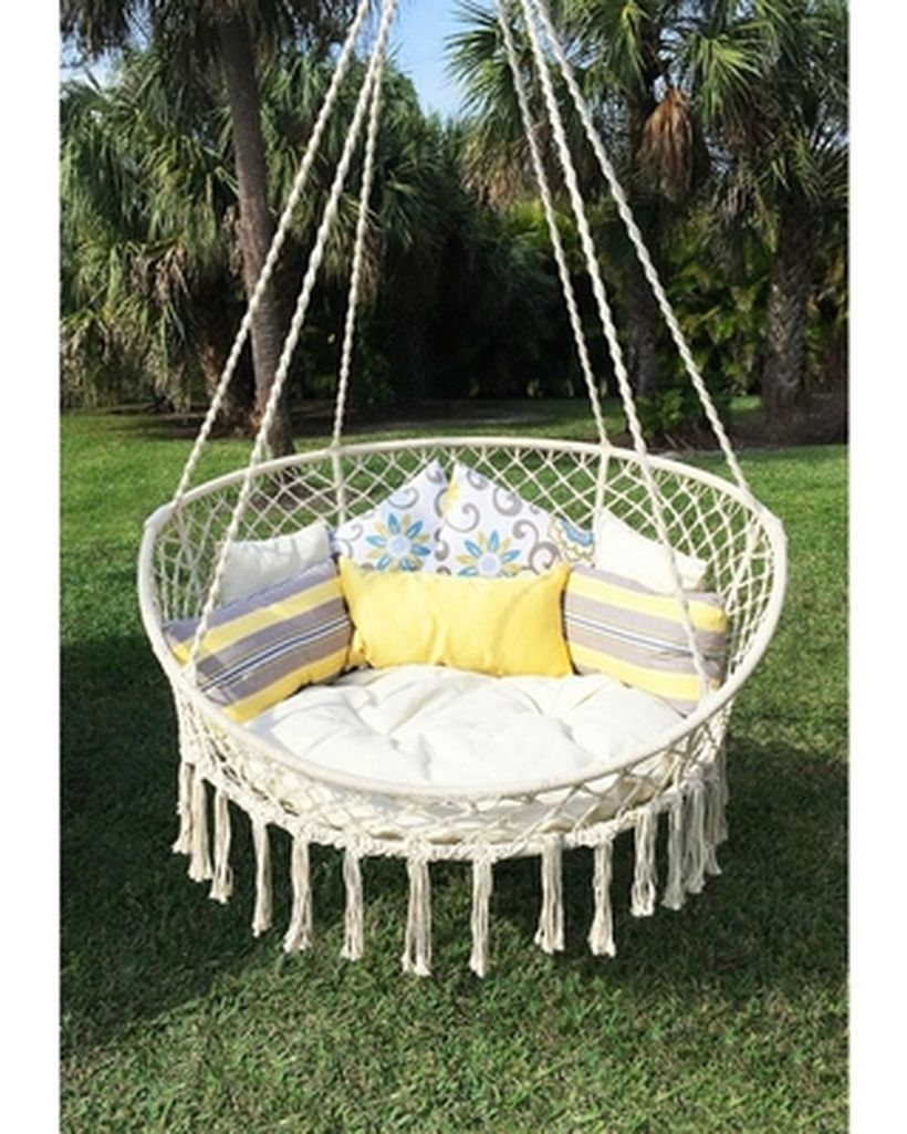 Bliss hanging macrame chair.