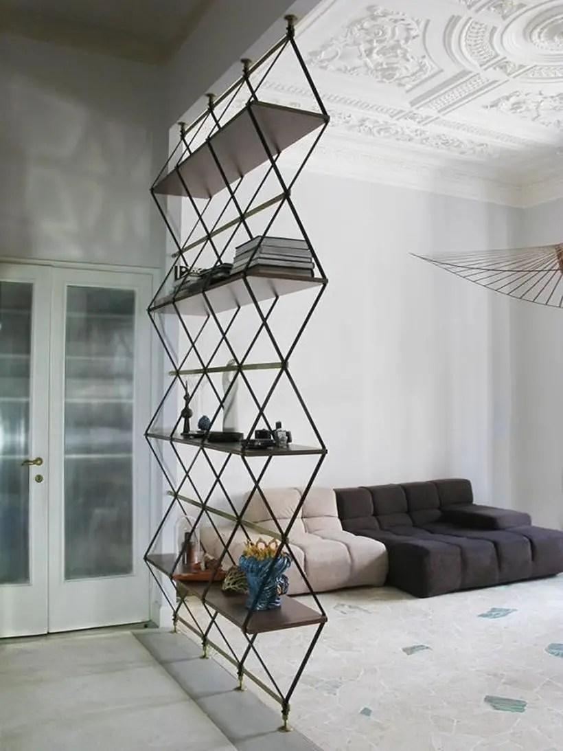 Clever iron bookshelves ideas