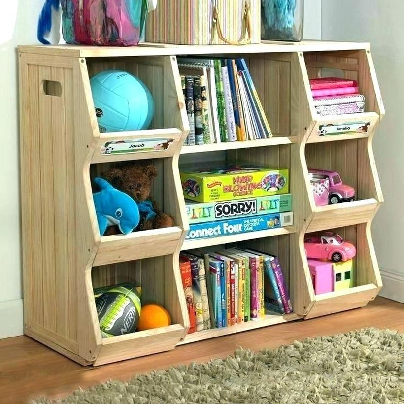 Clever storage for children toy with white color to look good in the children's room