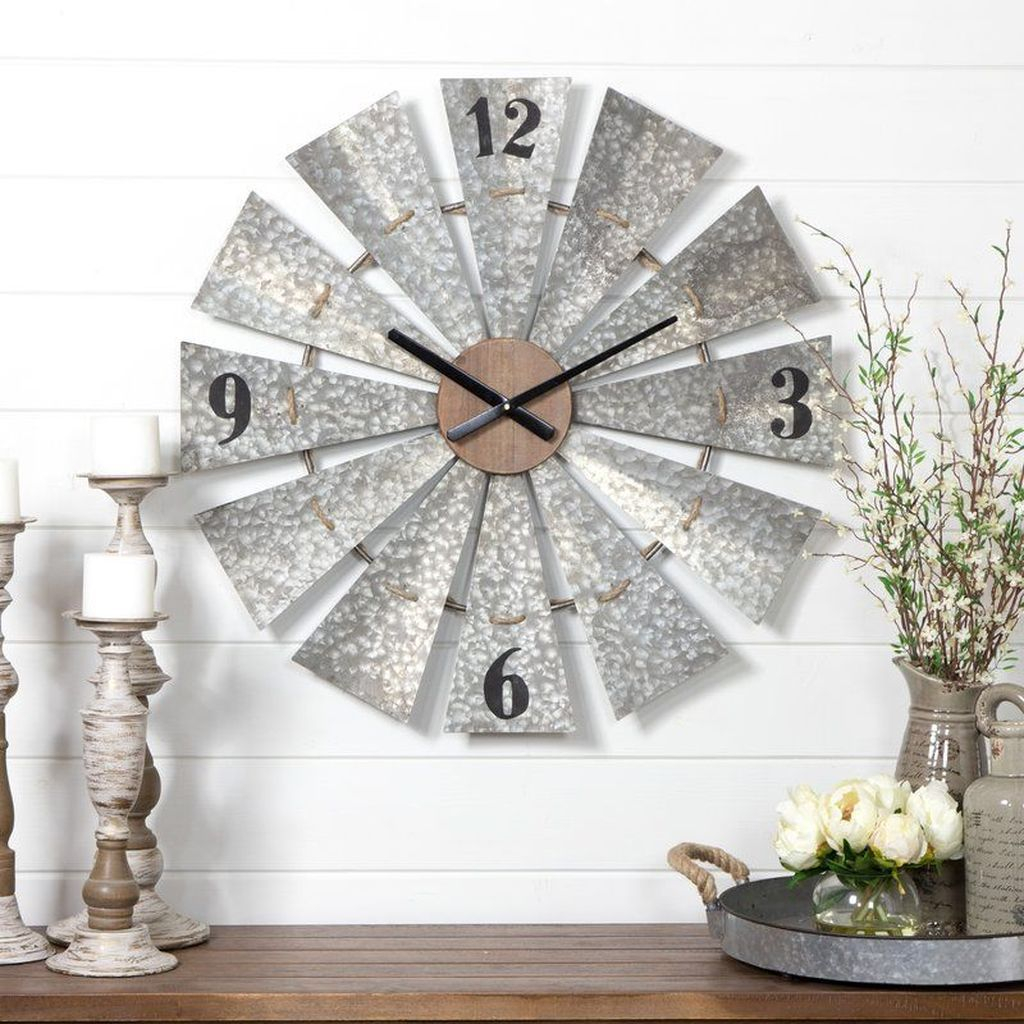 Iron clock wall decoration