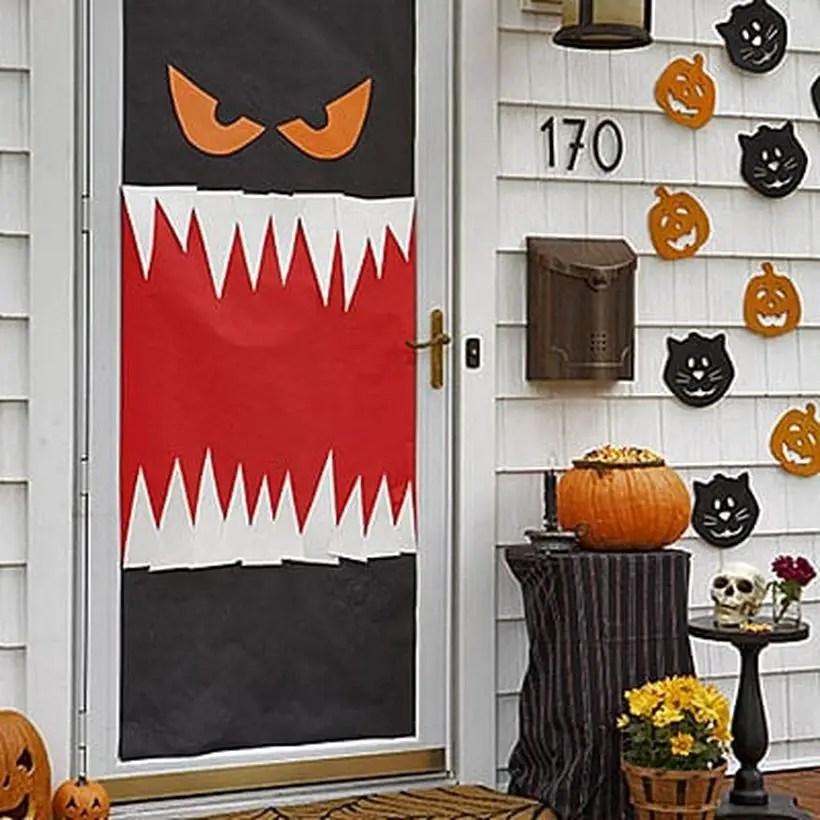 Monster halloween door.