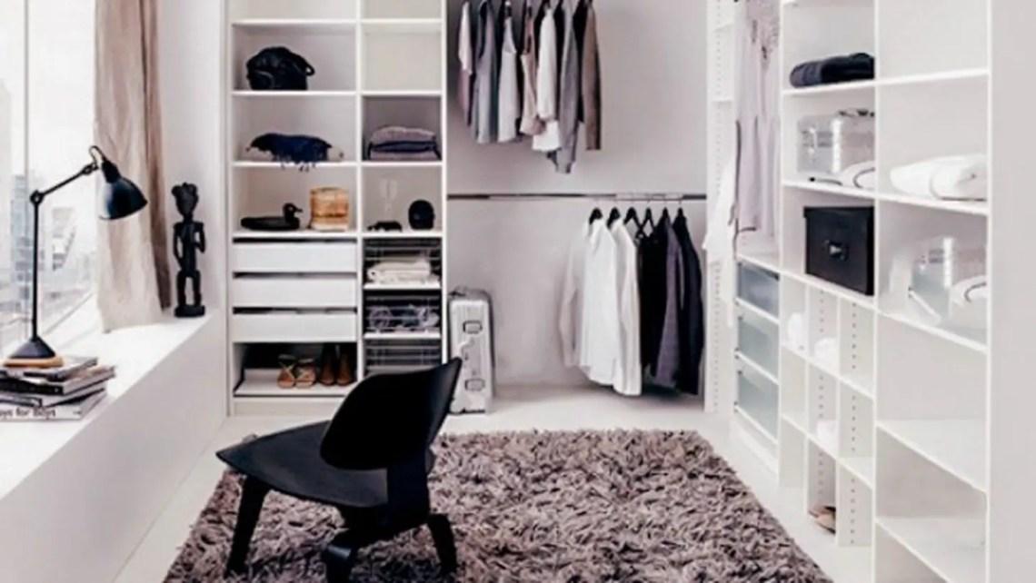 Nordic style wardrobe.