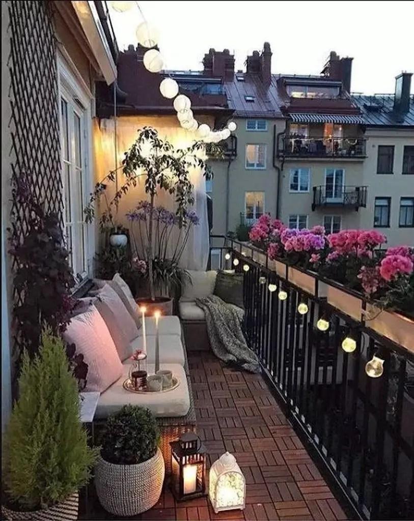 Perfect lighting for balcony