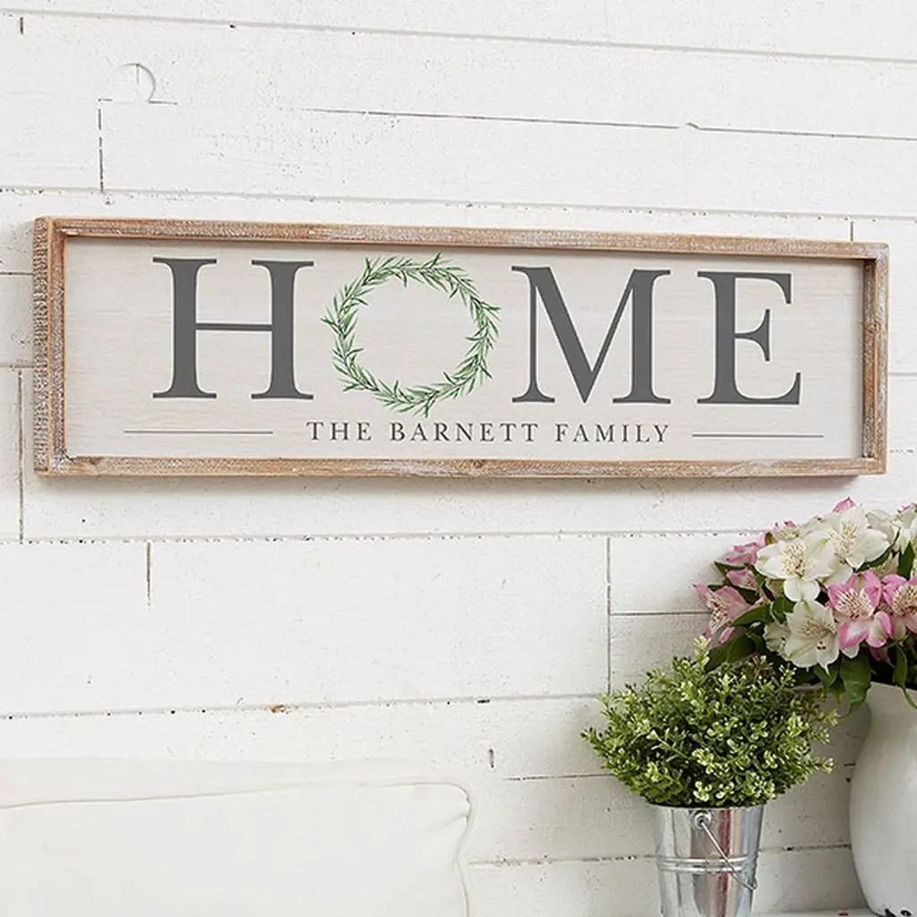 Rectangular sign decoration