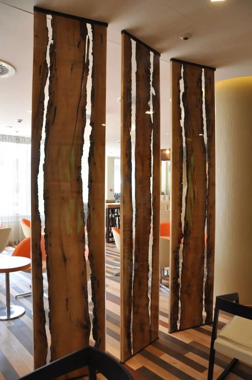 Resin wood divider