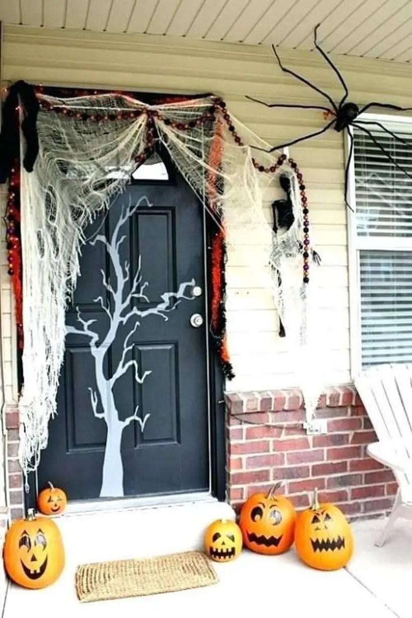 Scary halloween door