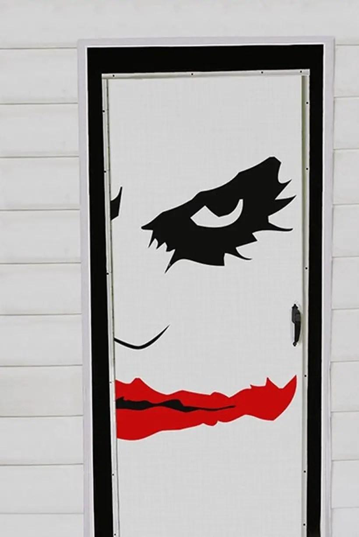 The dark knight halloween door.