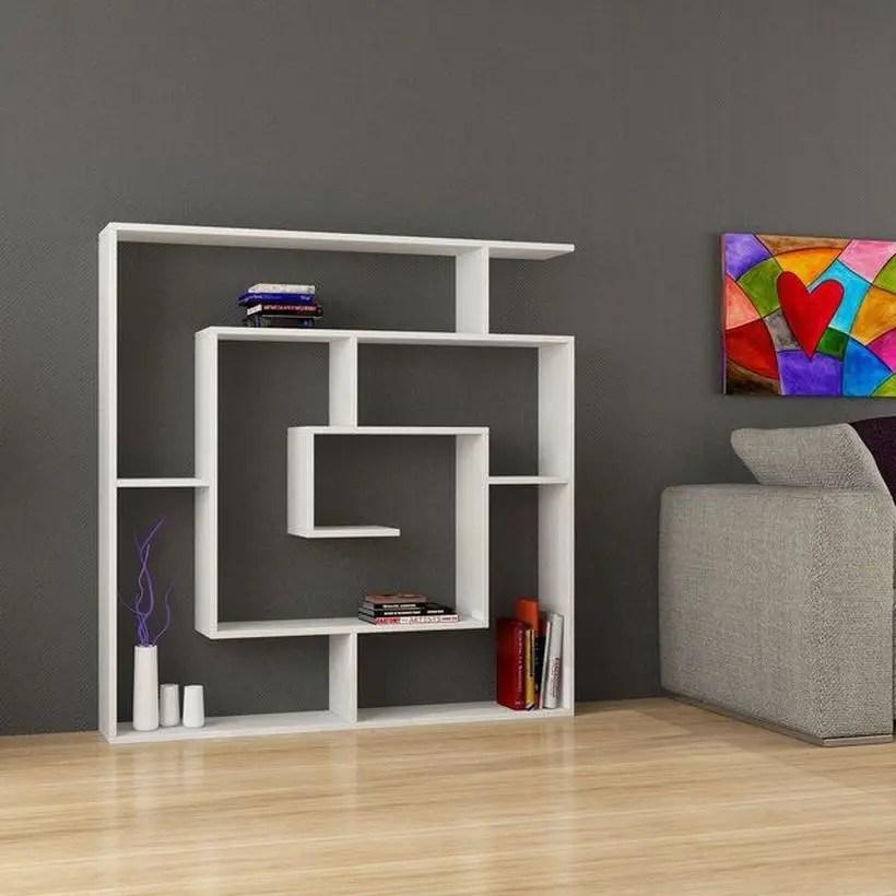 Unique square bookshelves ideas