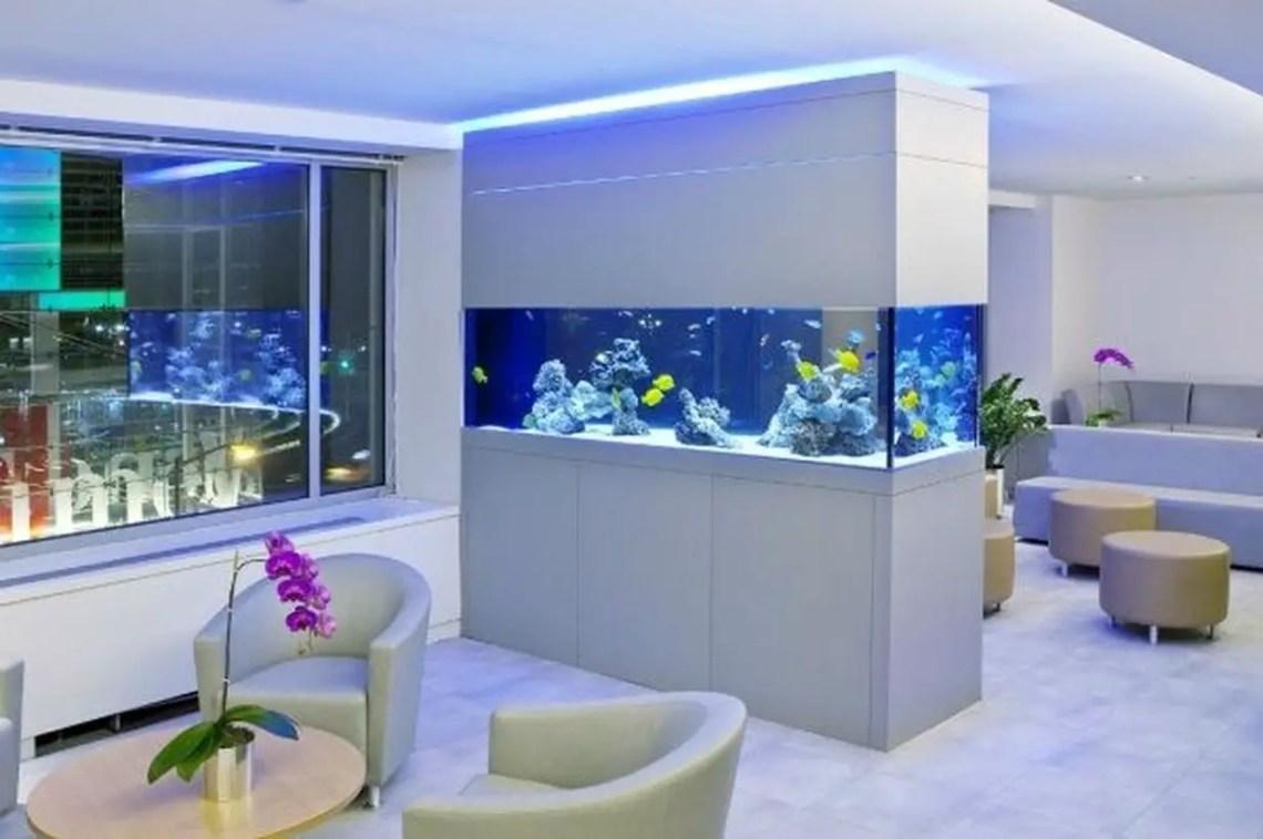 Aquarium room divider
