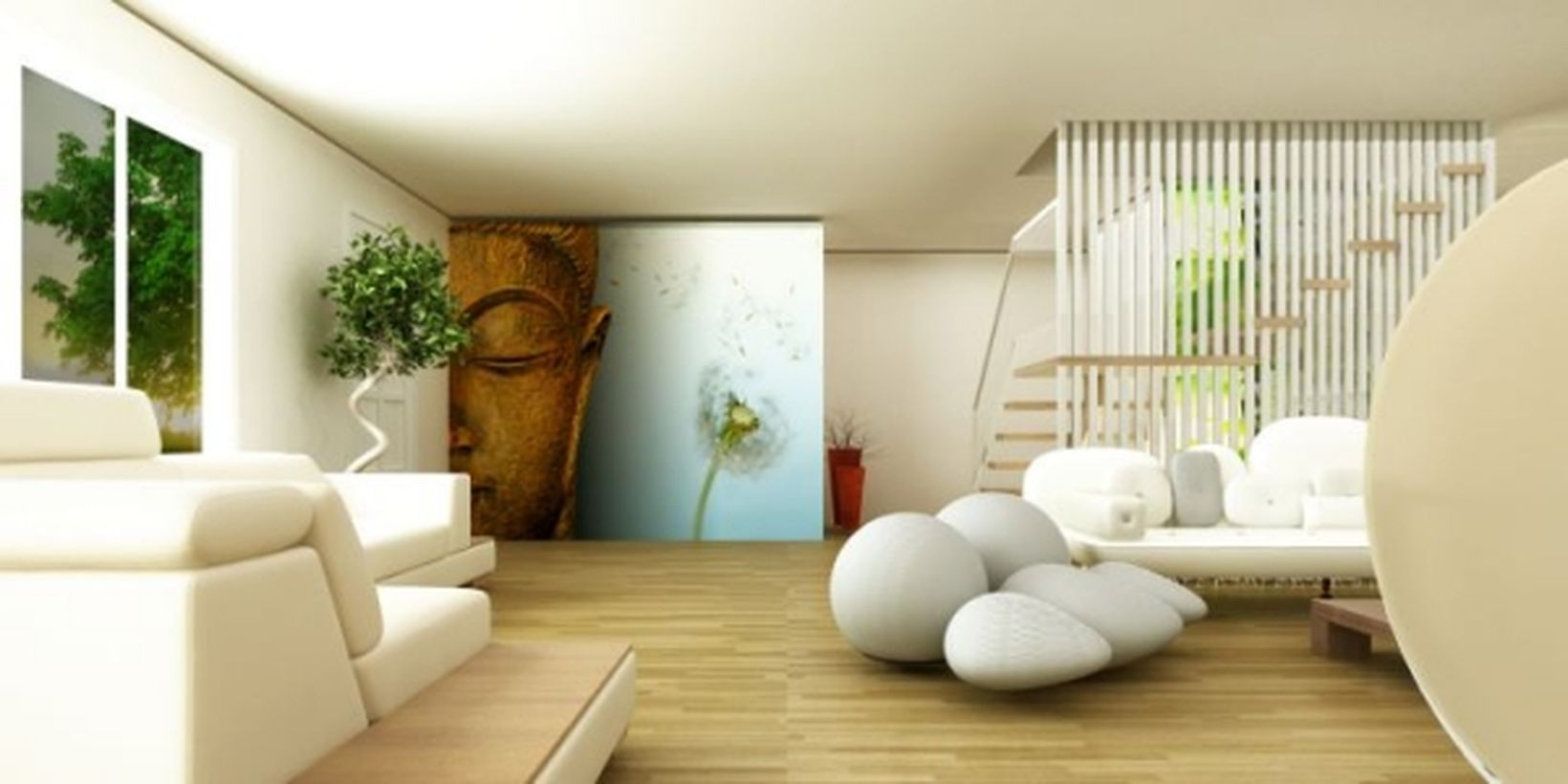 Best artistic wall painting ideas with budhha face painting on the wall you must try