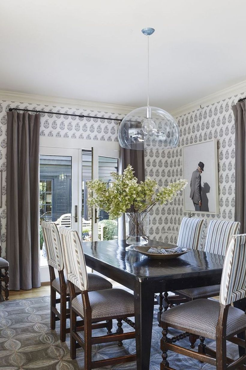 Best bold patterned wallpaper for your dining room you can apply