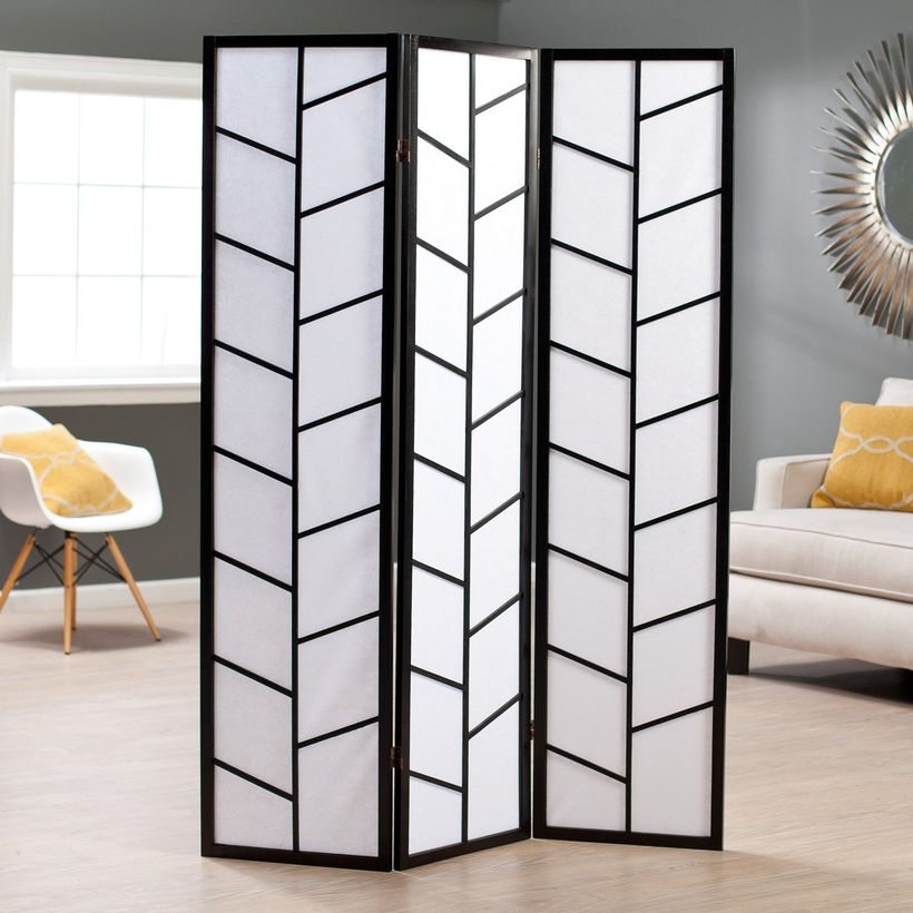 Black and white paper room divider
