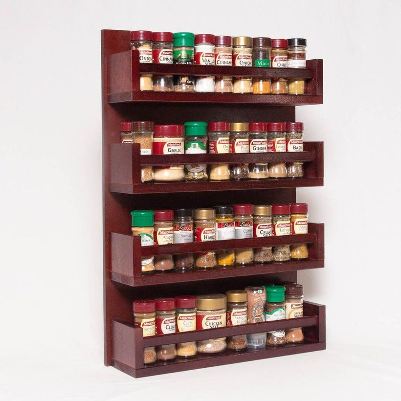 Brpwn wooden spice rack