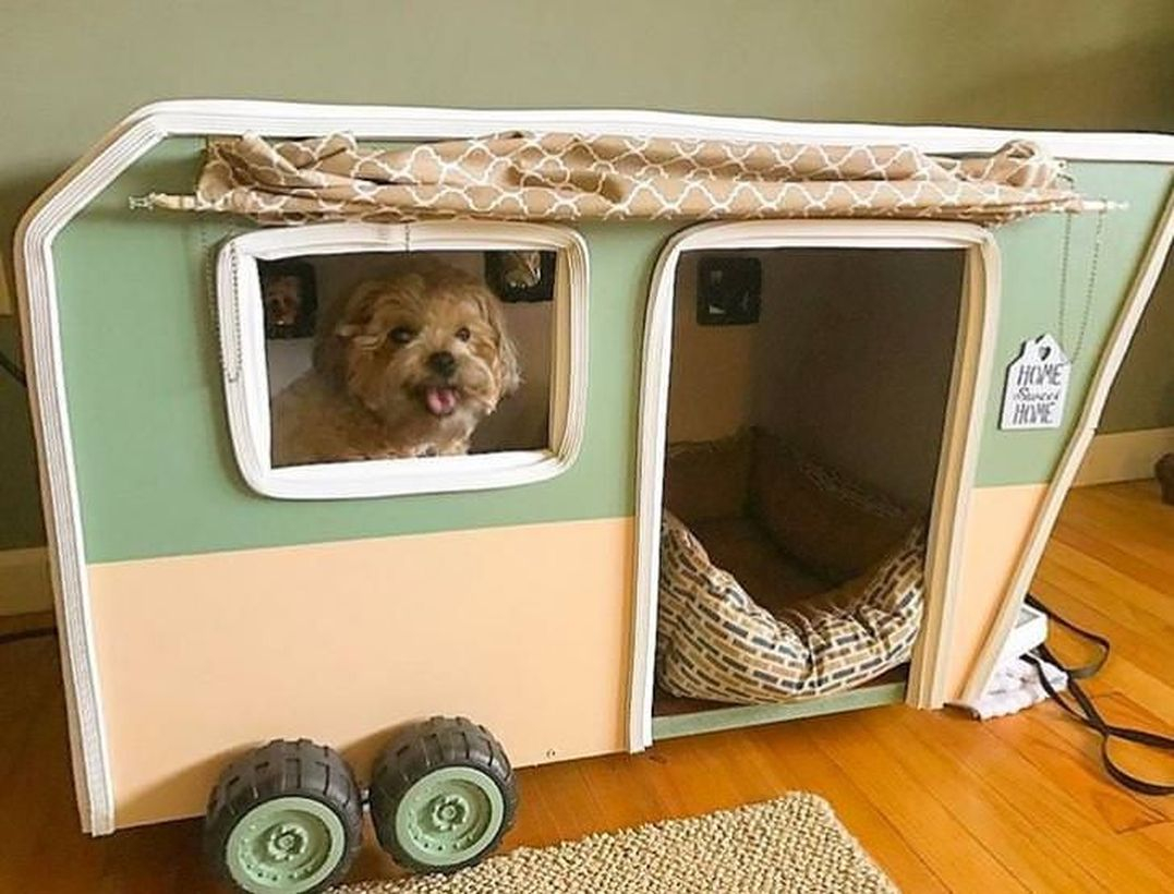 Bus-shaped dog house