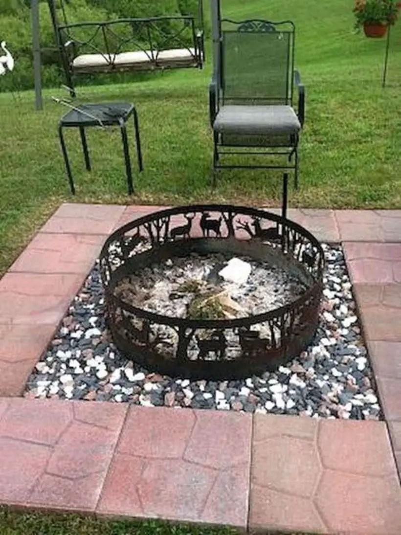 Circle iron fire pit