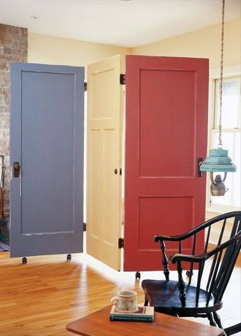 Colorful door room divider