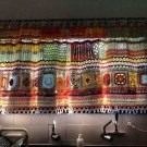 Colorful pattern curtain