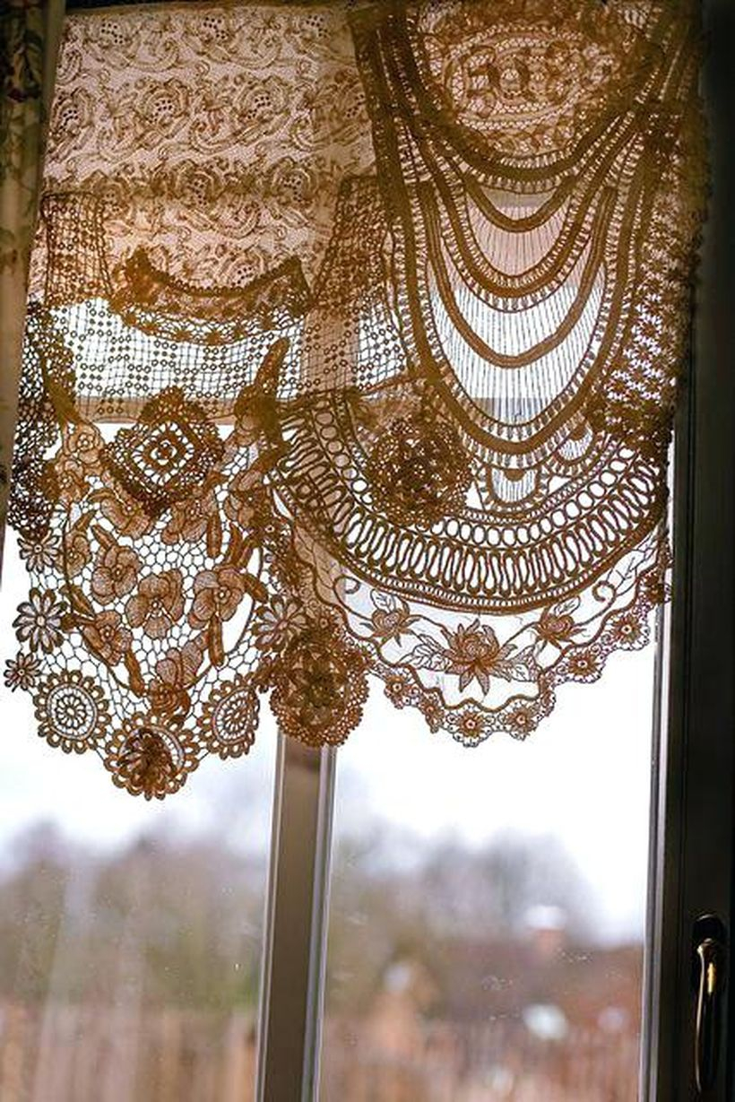 Creative designs victorian lace curtains-interior