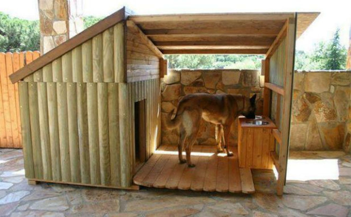 Dog house from beam pieces