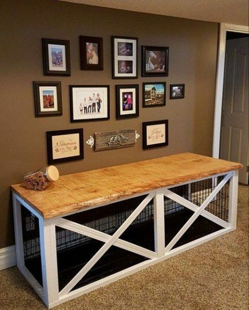 Dog house in entryway