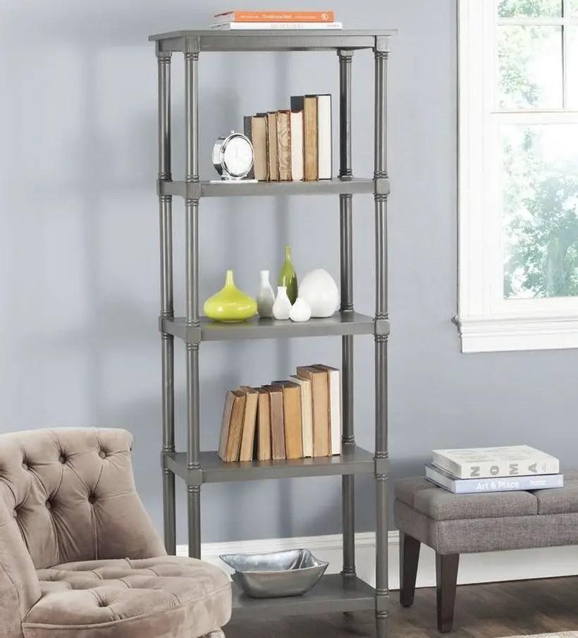 Gray bookshelves ideas