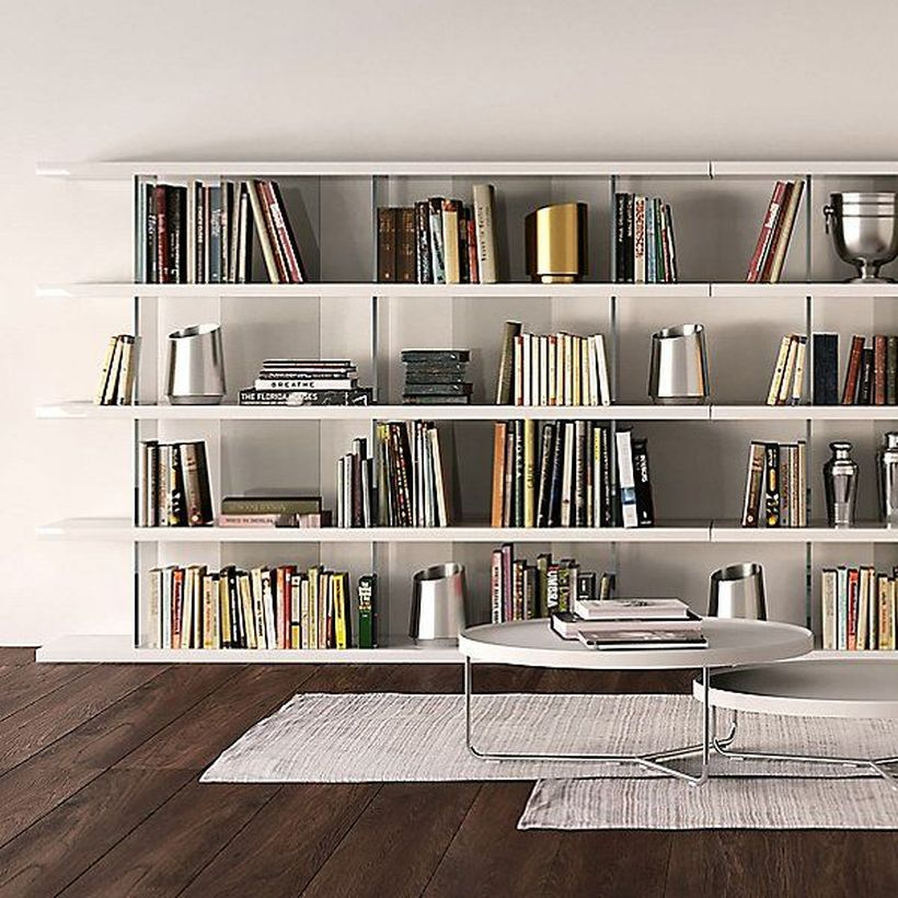 Interesting iron bookshelves ideas