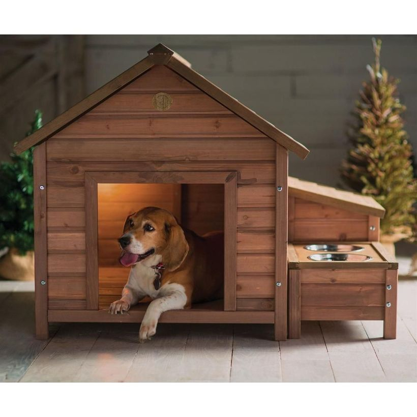 Large wooden dog house for your pet