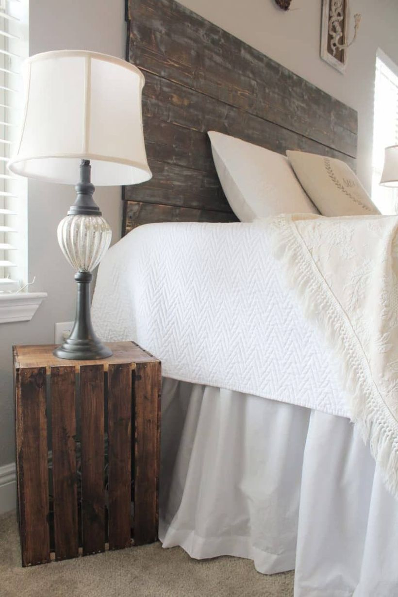 Night stand from wooden pallet