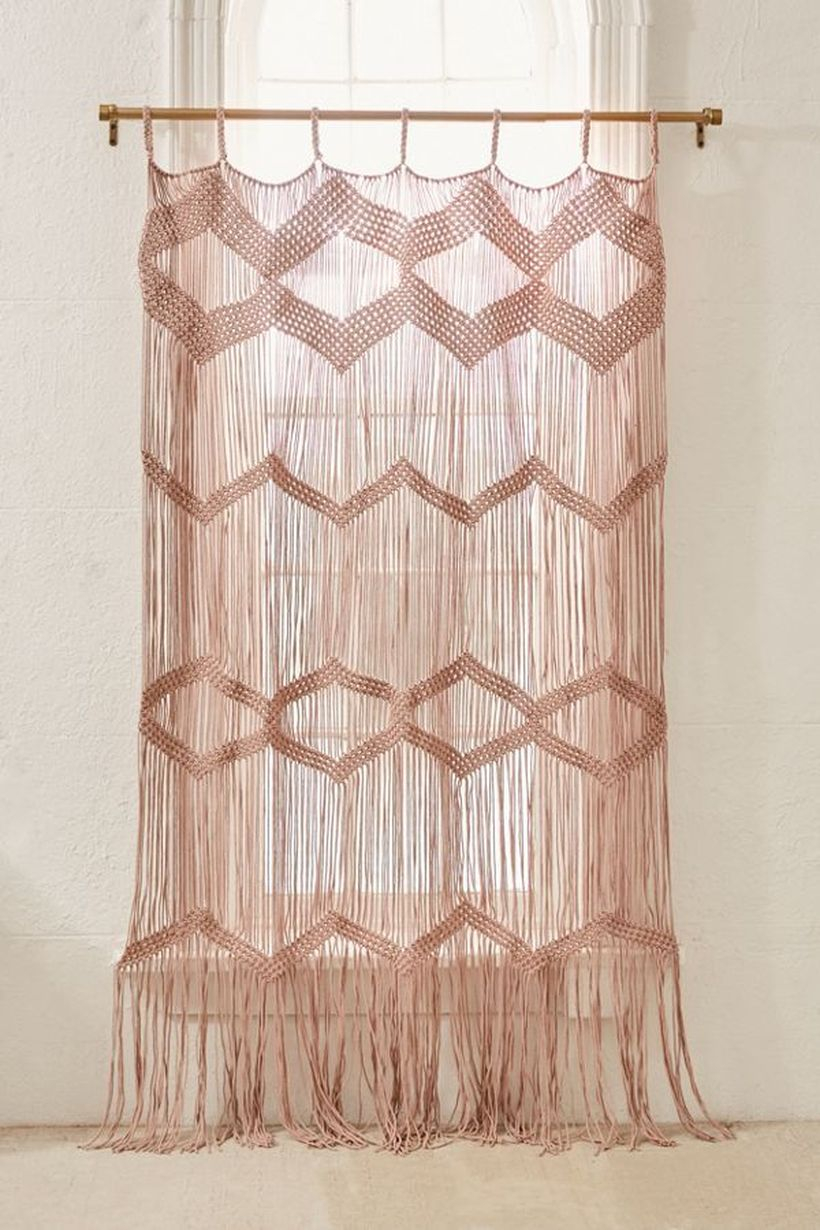Pink pattern curtain