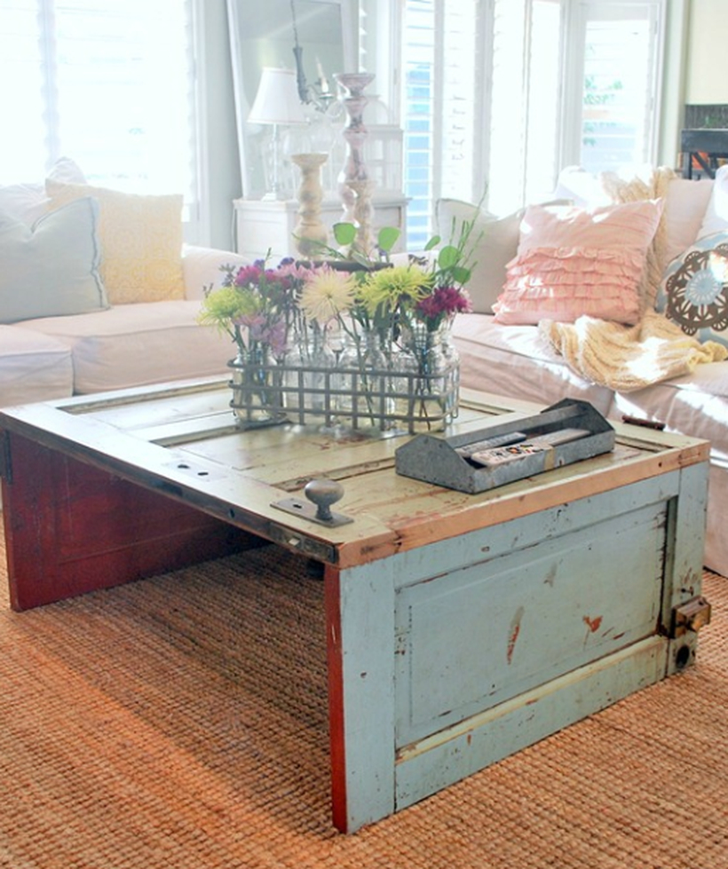 Remodel wooden coffee table