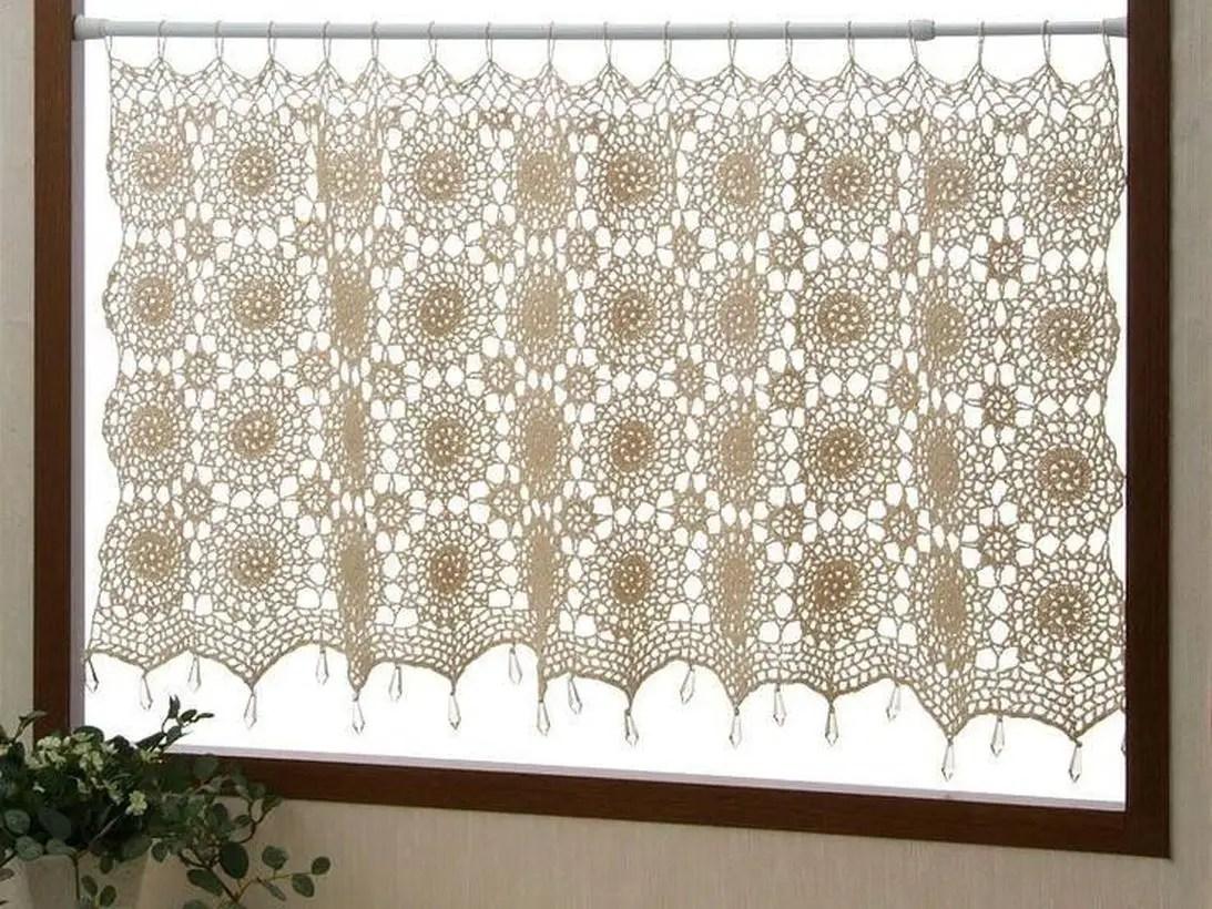 Round white curtain